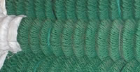 PVC chain link fence rolls in green color